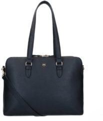 FMME Schoudertas Charlotte Laptop Business Bag Grain 13.3 Inch Zwart