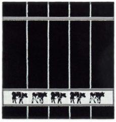 DDDDD Zwart Bont - Keukendoek - 50x55 cm - Set van 6 - Black