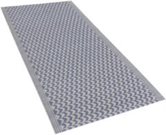 Beliani Buiten-vloerkleed zigzag patroon blauw 60 x 90 cm. MANGO