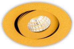 Groenovatie Inbouwspot LED 3W, Rond, Kantelbaar, Aluminium, Dimbaar, Goud