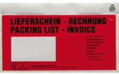 Documententas DIN lang Rood Lieferschein-Rechnung, mehrsprachig Zelfklevend 250 stuks/pak 250 stuk(s)