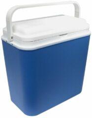 Blauwe Carpoint koelbox Hot&Cold 24 liter met 12/220V stekker blauw