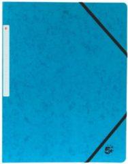1 Star 5 Star elastomap formaat A4 (24x32 cm) met elastieken zonder kleppen donkerblauw pak van 10 stuks