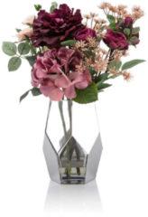 Fleurange Blumenbouquet mit silberfarbener Vase