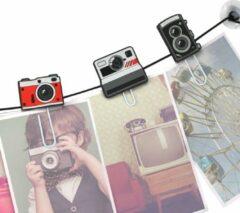 Mustard Funny Fotoclips - ClipIt Cameras - Set van 6 Stuks - Assorti