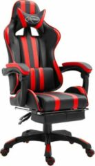 LW collection Gamestoel Rood met Voetenbank - Gaming Stoel - Gaming Chair - Bureaustoel racing - Racestoel - Bureau stoel gamen