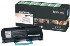 Zwarte LEXMARK E360, E460 tonercartridge zwart high capacity 9.000 pagina s 1-pack return program