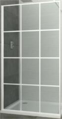 Inloopdouche Allibert Loft-Game Walk-In 120x200 cm 8mm Industrieel Wit Raster (incl. stabilisatiestang)