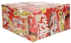 3x Disney inpakpapier Cars champions rood - 200 x 70 cm - cadeaupapier / kadopapier rollen