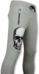 ENOS Trainingsbroek Heren - Mannen Sweatpants Color Skull - Grijs - Maten: XS