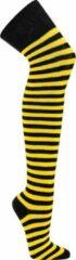 Topsocks overknee sokken ringels-geel kleur: geel maat: 36-42