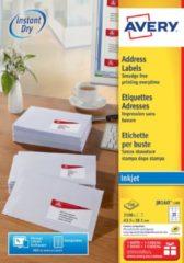 Doos 2100 adresetiketten Avery J 8160 wit 63,5 x 38,1mm voor inkjetprinter