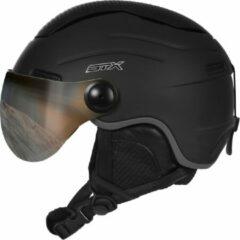 Zwarte STX Helmet Visor Junior Black Skihelm - Black - Unisex - Maat S