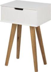 Lisomme Fabienne nachtkastje - Eikenhout onderstel - L40 x B30 x H61 cm - Wit