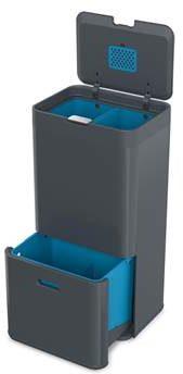 Afbeelding van Joseph Joseph Intelligent Waste Totem Prullenbak - Aluminium - 58 l - Recycler - Graphite