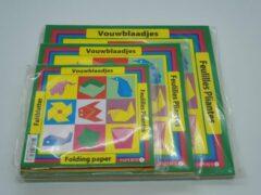 Rode Papyrus Vouwblaadjes – PAKKET 3 VERSCHILLENDE MATEN VOUWPAPIER 12x12 16x16 en 20x20 - Vouwblaadjes kinderen – Gekleurd papier – Origami papier – Knutselkarton