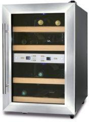CASO Design Weinkühlschrank »Wine Duett 12«, Höhe 54 cm, für 12 Bordeauxflaschen á 0,75l