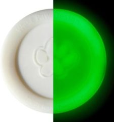 Witte Zogoflex Zisc - Hondenfrisbee - L - Glow in the Dark