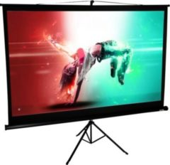Mobile HDTV Stativ Beamer Projektor Leinwand Ständer 4:3 / 16:9 Rolloleinwand tragbar VCM 221 x 125 cm: 254 cm / 100 Zoll