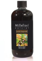 Bruine Millefiori Milano Navulling voor Geurstokjes 500 ml - Sandalo Bergamotto