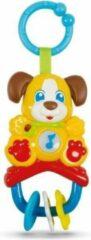 Witte CLEMENTONI Baby - Elektronische rammelaar hond