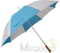 Basic Golf Paraplu met Metalen Stang & Ergonomisch Handvat Blauw/Wit...