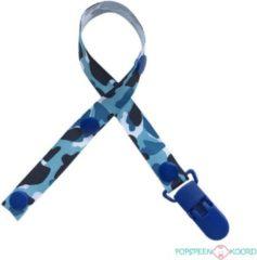 Fopspeenkoord.nl Speenkoord - Camouflage Camo blauw