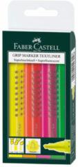 Faber Castell Tekstmarker Faber-castell Grip Etui A 4 Stuks