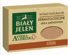 Bilay Jelen 1921 Bialy Jelen - Natuurlijke Dermatologische Zeep met Ichthammol - Tegen Geirriteerde Huid Ontstekingen Jeuk en Schilferingen - 125 g