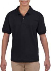 Gildan Zwarte poloshirt voor jongens 134-140 (M)