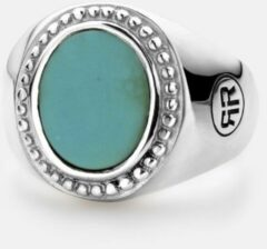 Rebel & Rose Rebel and Rose RR-RG019-S Ring Women Oval Turquoise zilver Maat 45