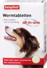 Beaphar Wormtablet All In One Hond - Anti wormenmiddel - 4 tab 2.5 Tot 40 Kg
