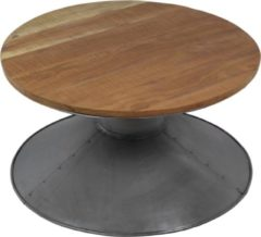 Grijze HSM Collection Salontafel - gerecylced hout/ijzer