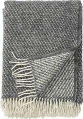 Grijze Klippan Yllefabrik Klippan wollen plaid Velvet grey- 130x200cm