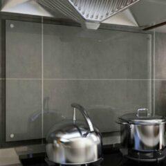 VidaXL Spatscherm keuken 90x60 cm gehard glas transparant