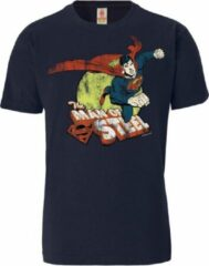 Donkerblauwe Logoshirt Heren T-shirt Maat XL