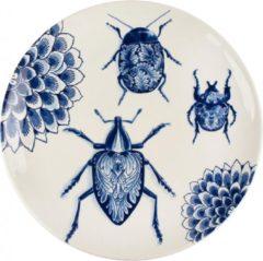 Blauwe Royal Delft Bord Wunderkammer Bugs 28 cm