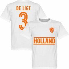 Retake Nederlands Elftal De Ligt Team T-Shirt - Wit - L