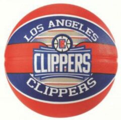 Rode Spalding basketbal Los Angeles Clippers maat 7