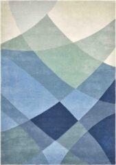 Claire Gaudion - Rhythmic Tides Indigo Vloerkleed - 200x300 cm - Rechthoekig - Laagpolig Tapijt - Modern - Meerkleurig