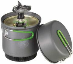 Groene Optimus - Crux Weekend HE Kochsystem - Gaskookstel maat One Size grijs/groen