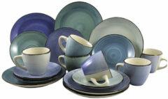 Blauwe Easyline Koffieset Ocean Blue 18-Delig