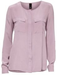 Paarse Zijden blouse