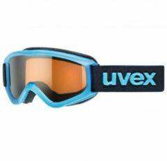 Uvex - Kid´s Speedy Pro Lasergold S2 - Skibril zwart/turkoois/blauw