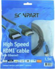Scanpart - Scanpart HDMI Kabel Blauw 1,5m - 30 Dagen Niet Goed Geld Terug