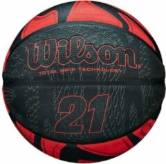Wilson Basketbal 21 Series Rubber Zwart/rood Maat 7