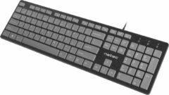 NATEC Discus toetsenbord USB QWERTY Engels Zwart, Grijs