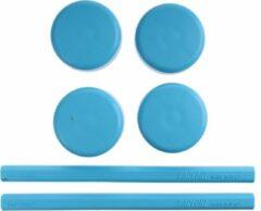 Saccon Vervangingsset Voor Etalage Standaard Blauw 6-delig