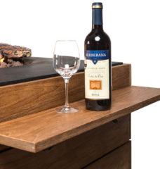 Bruine Happy Cocooning Houten Side Table Teakhout met 2 poeder coated/rubber steunen, 1 set = 2 stuks