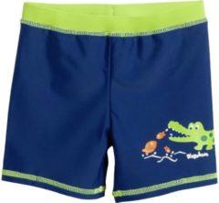 Playshoes - Kid's UV-Schutz Shorts Krokodil - Zwembroek maat 110/116, blauw/groen